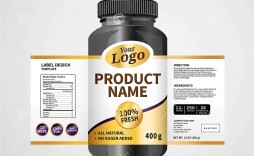005 Unusual Free Food Label Design Template Example  Templates Download