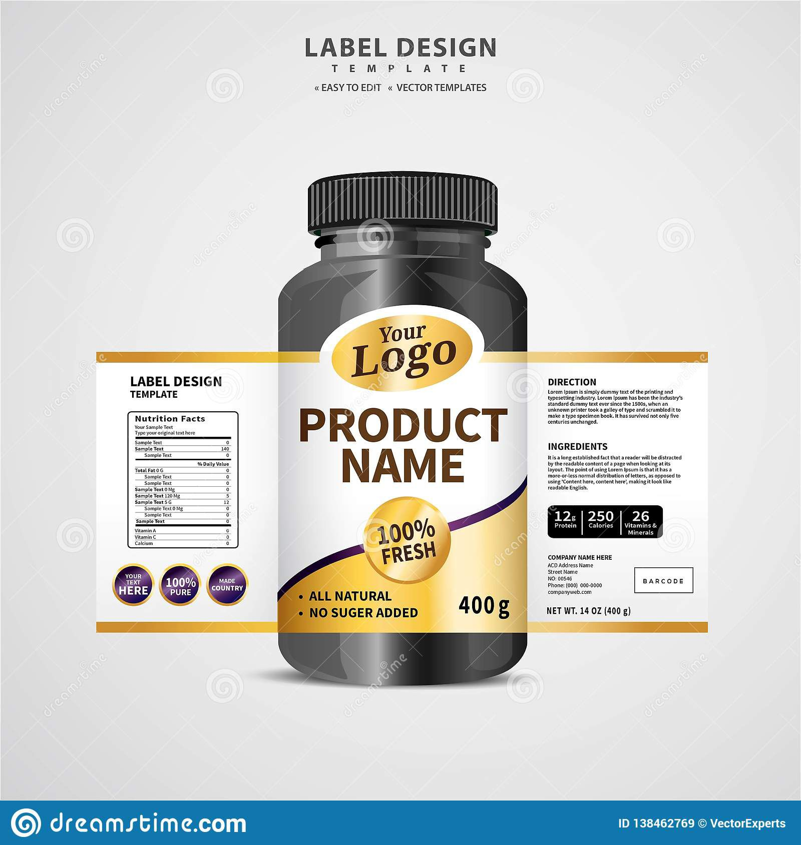 005 Unusual Free Food Label Design Template Example  Templates DownloadFull