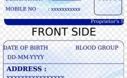 005 Unusual Free Printable Id Card Template High Resolution  Templates Medical Editable