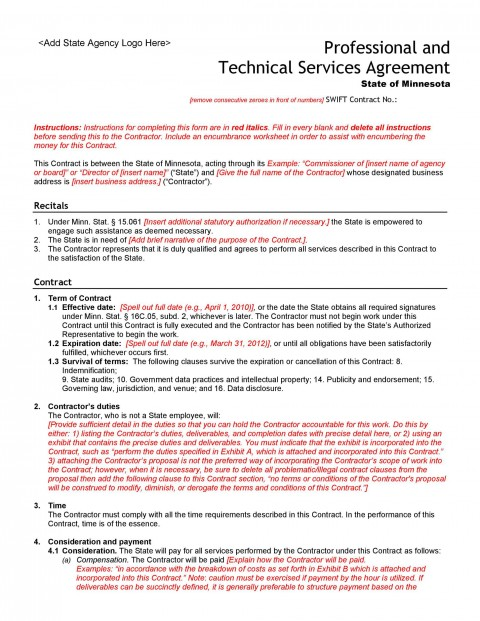 005 Unusual Free Service Contract Template Pdf Highest Clarity 480