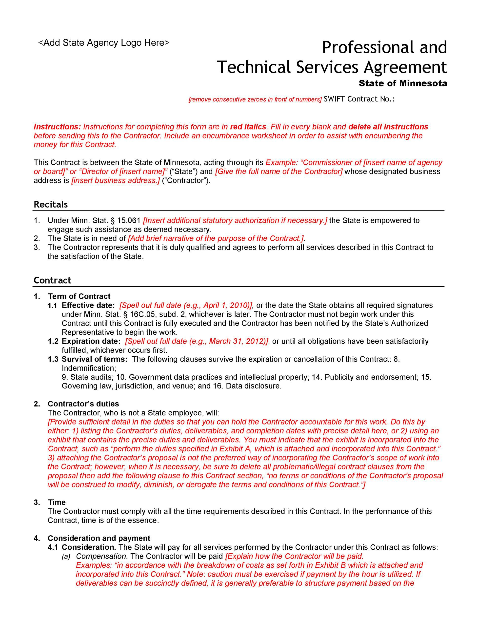 005 Unusual Free Service Contract Template Pdf Highest Clarity Full
