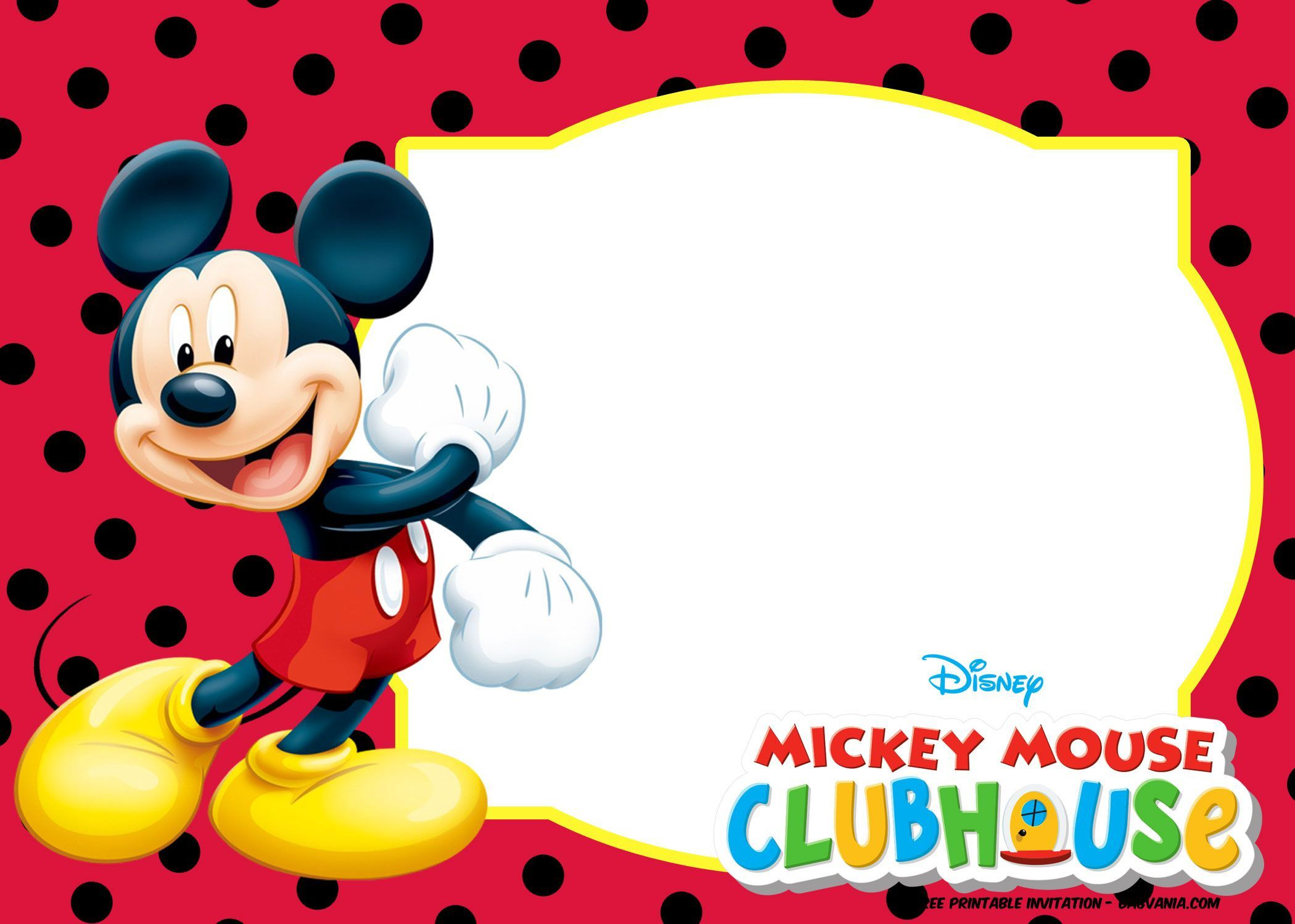 Mickey Mouse 1St Birthday Invitations Template from www.addictionary.org