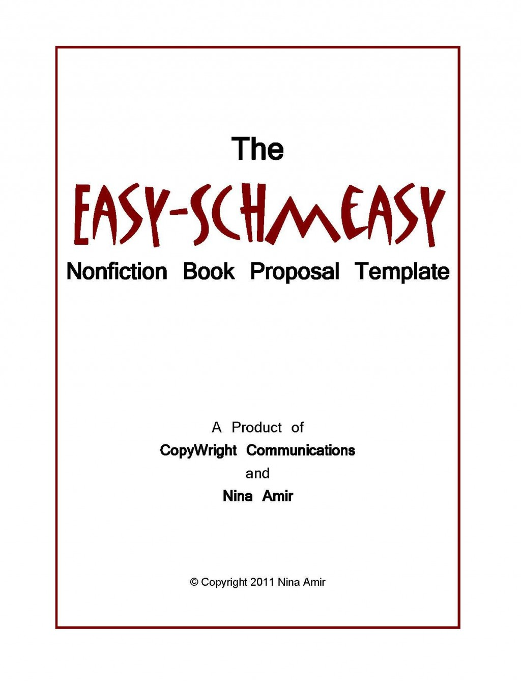 005 Unusual Nonfiction Book Proposal Template Sample  ExampleLarge