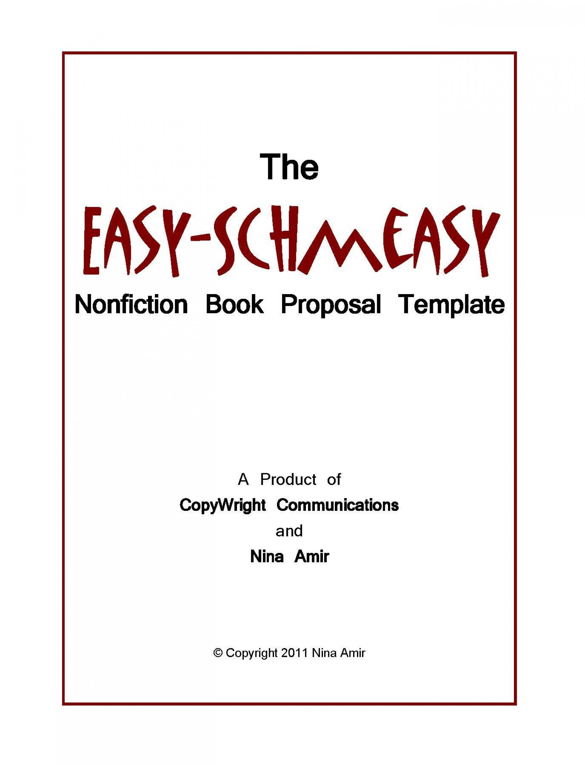 005 Unusual Nonfiction Book Proposal Template Sample  Example1920