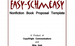 005 Unusual Nonfiction Book Proposal Template Sample  Example