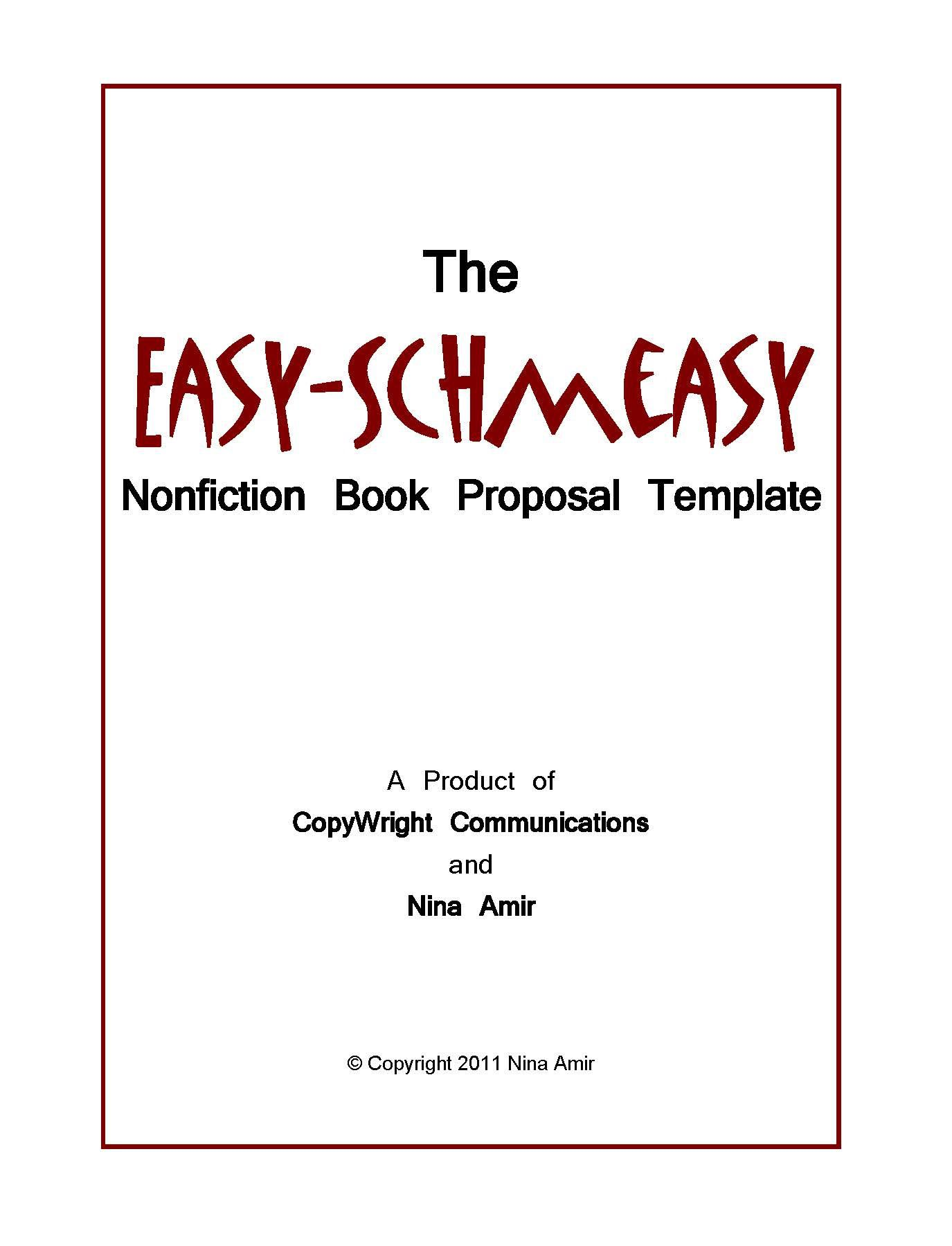 005 Unusual Nonfiction Book Proposal Template Sample  ExampleFull