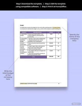 005 Unusual Social Media Marketing Plan Template Doc High Definition 320