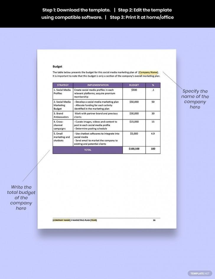 005 Unusual Social Media Marketing Plan Template Doc High Definition 728