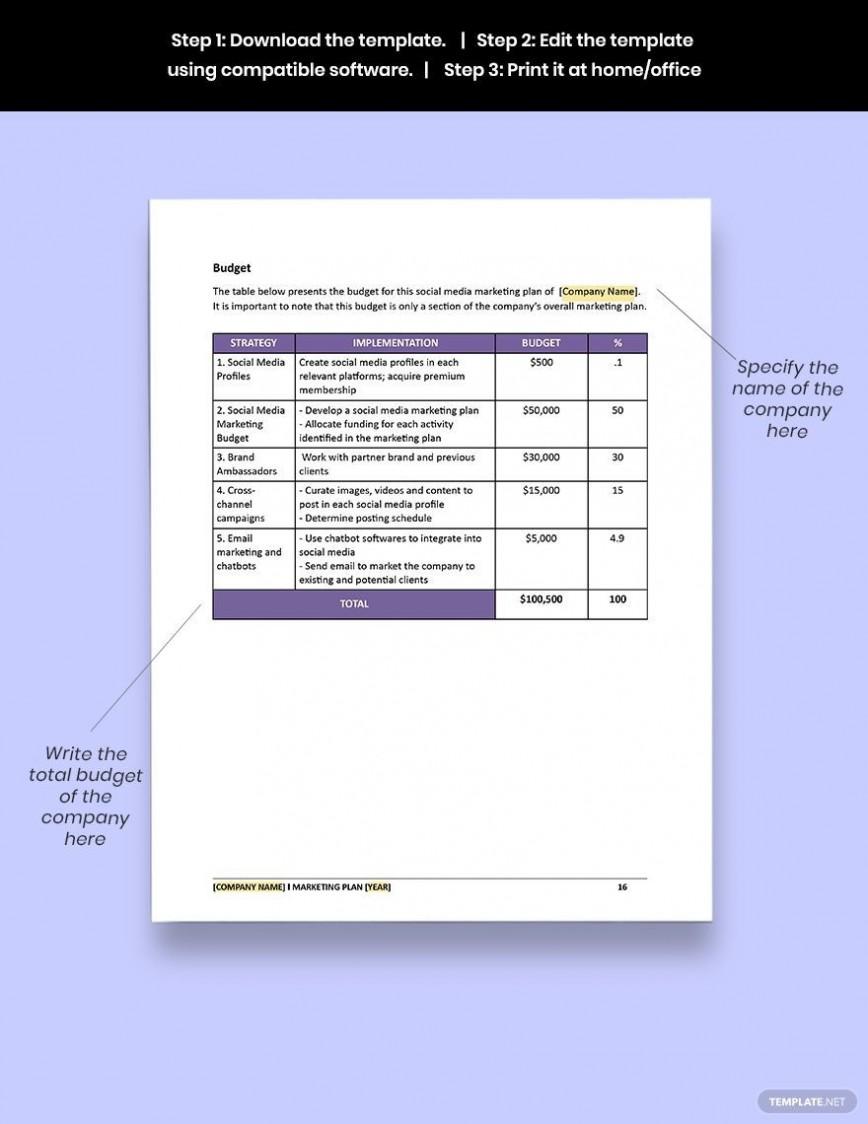 005 Unusual Social Media Marketing Plan Template Doc High Definition 868