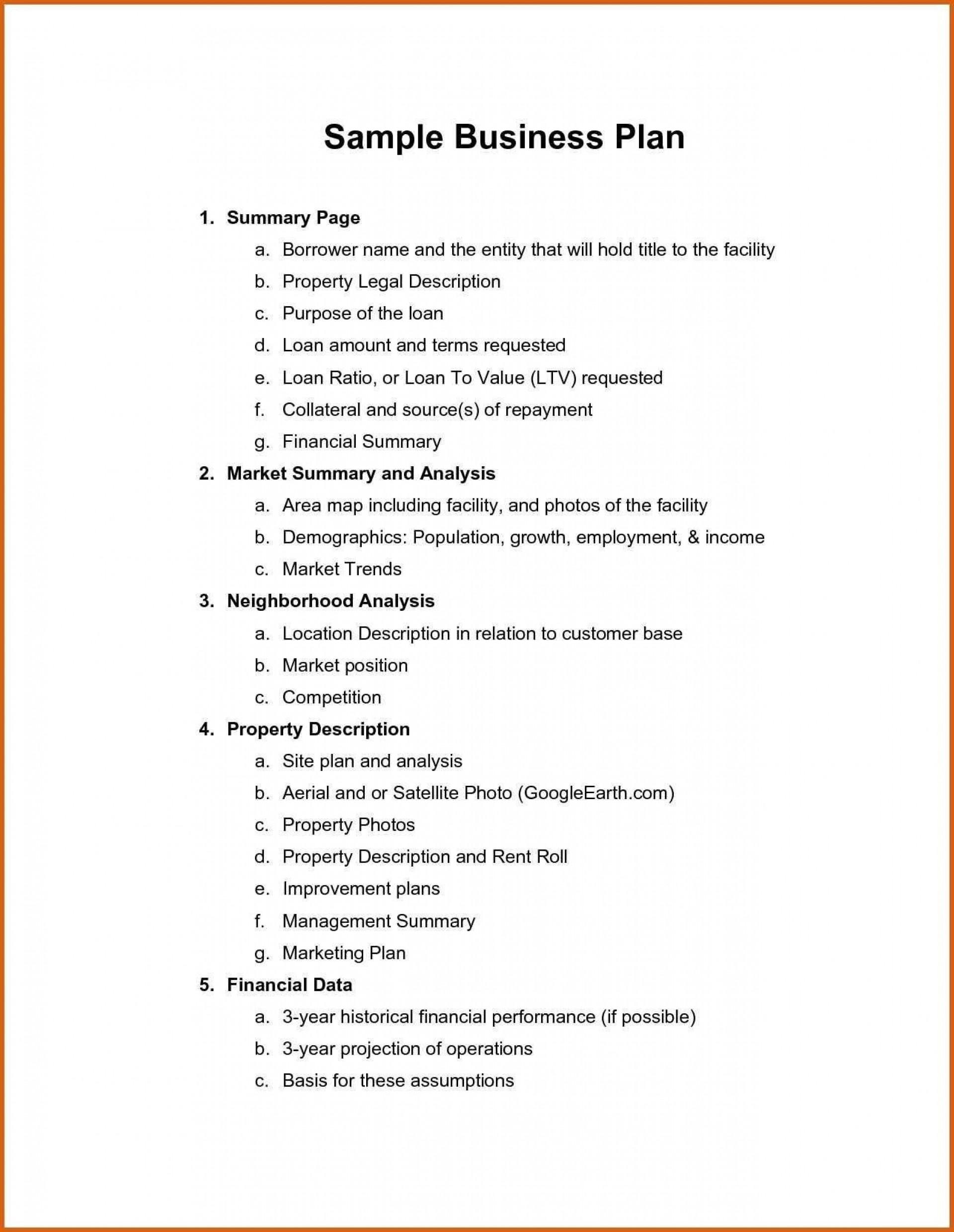 005 Unusual Startup Restaurant Busines Plan Sample Pdf High Definition 1920