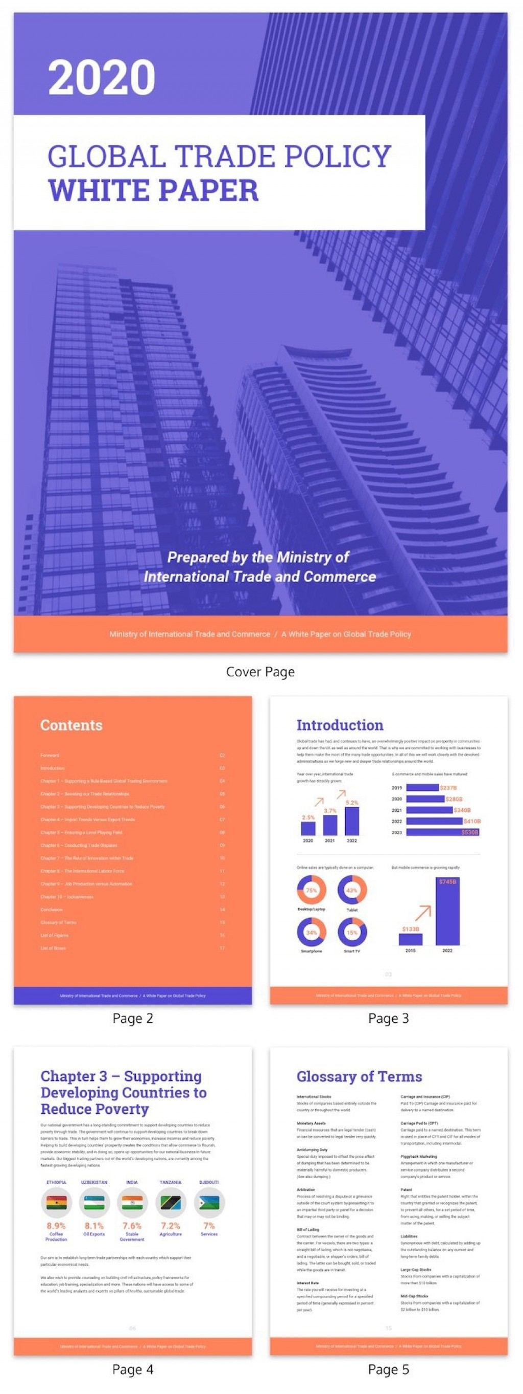 005 Unusual Technical White Paper Template Sample  Word Doc Free Download 2013Large