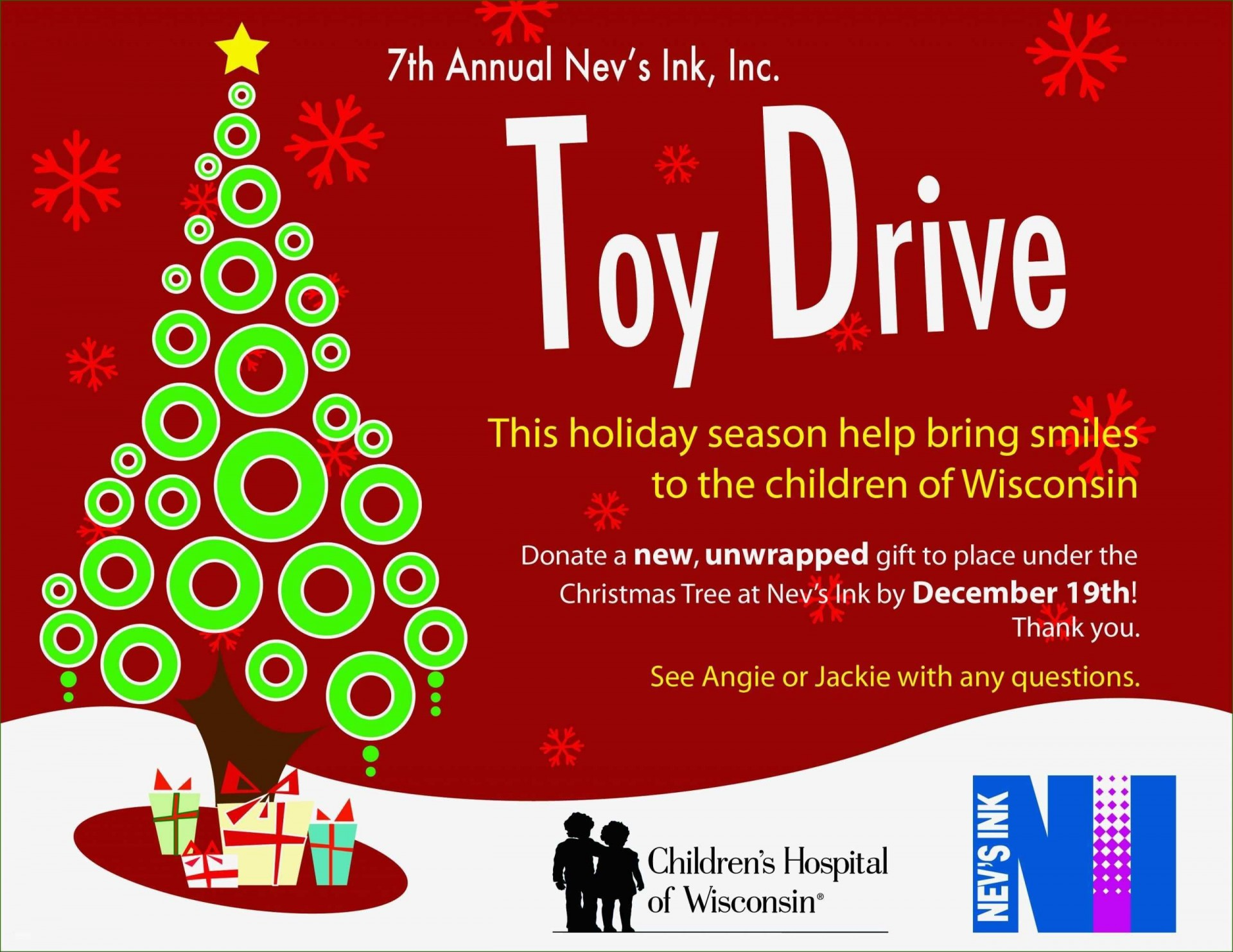005 Unusual Toy Drive Flyer Template Free Photo  Download Christma1920
