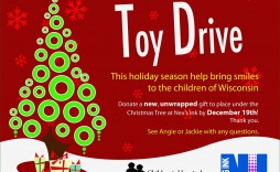 005 Unusual Toy Drive Flyer Template Free Photo  Christma Download