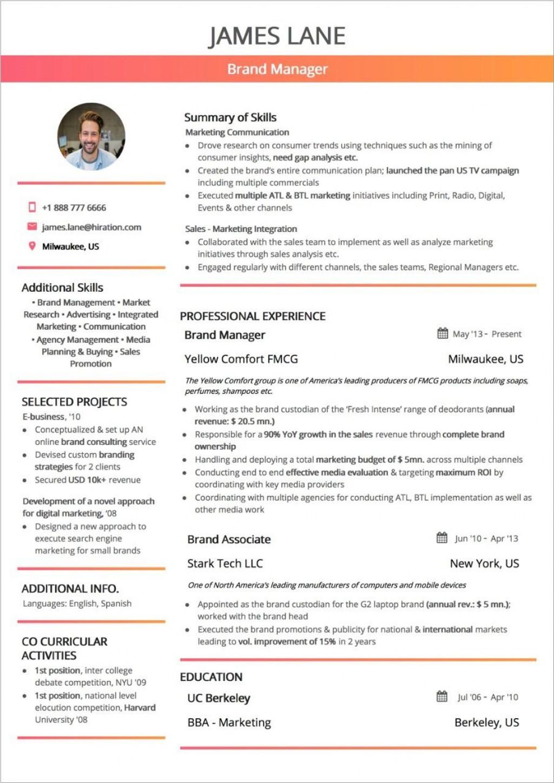 005 Unusual Two Column Resume Template Word Example  Cv Free MicrosoftLarge