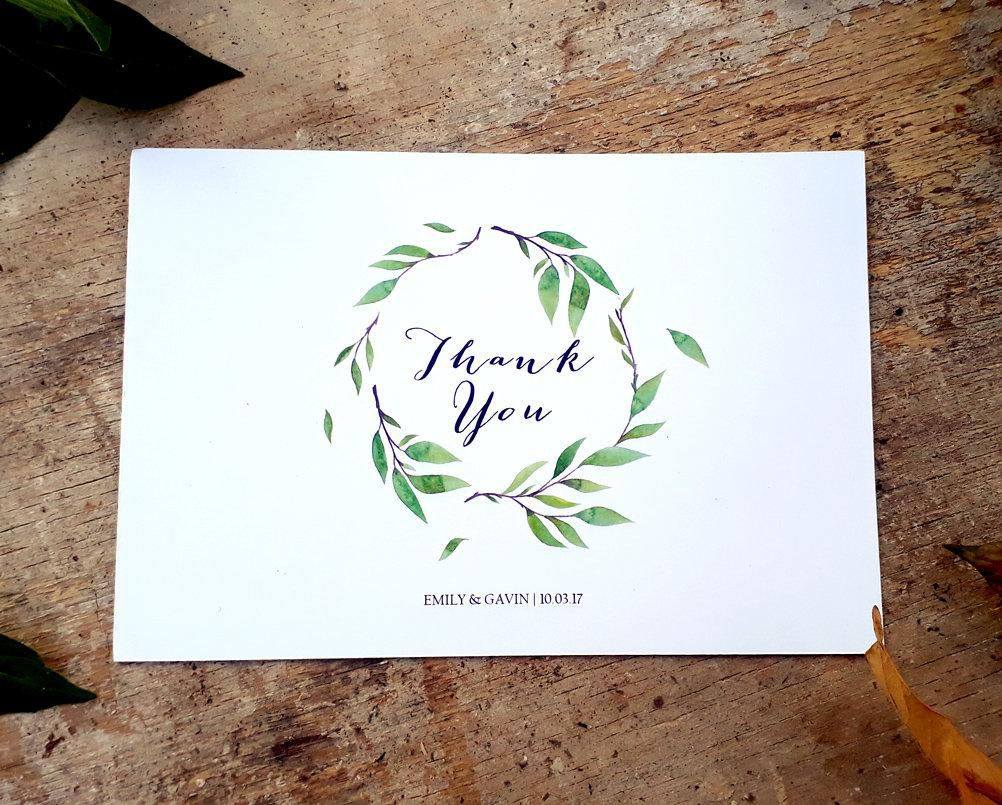 005 Unusual Wedding Thank You Card Templates. Concept  Template Etsy Word PublisherFull