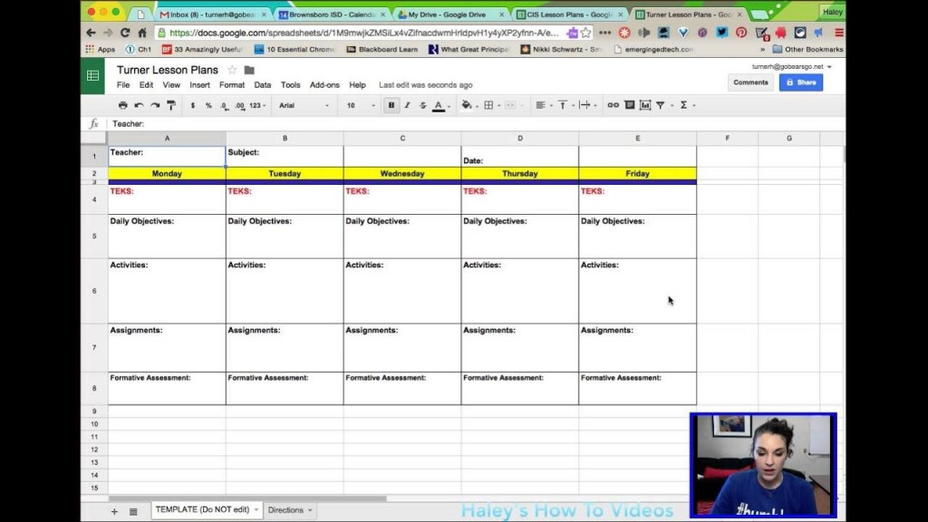 005 Unusual Weekly Lesson Plan Template Google Doc Concept  Docs 5e SimpleLarge