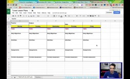 005 Unusual Weekly Lesson Plan Template Google Doc Concept  Docs 5e Simple