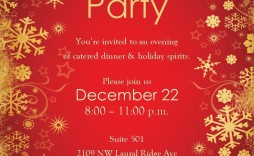 005 Unusual Xma Party Invite Template Free Highest Quality  Holiday Invitation Word Printable Office Christma Download