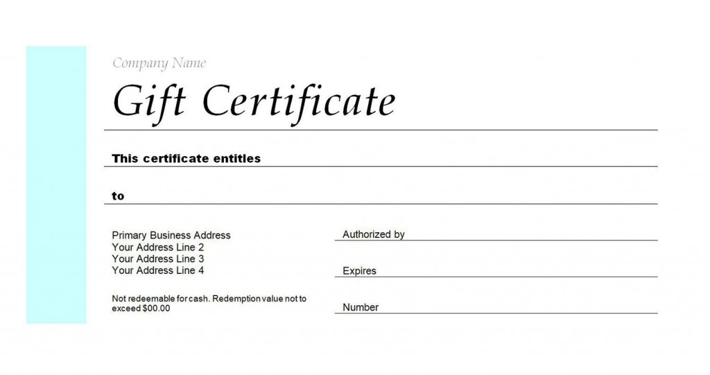 005 Wonderful Blank Gift Certificate Template Idea  Free Printable DownloadableLarge