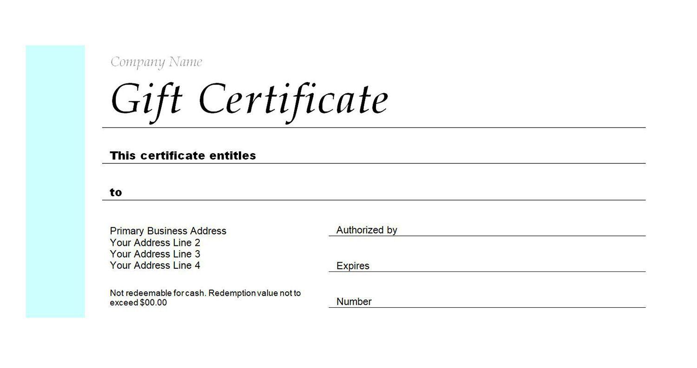005 Wonderful Blank Gift Certificate Template Idea  Free Printable DownloadableFull