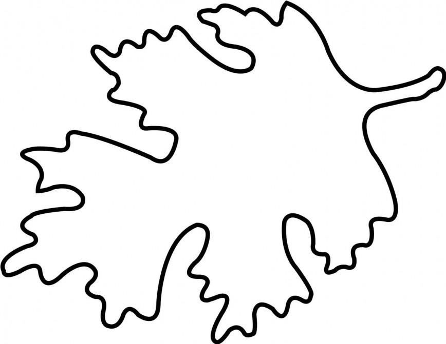 005 Wonderful Blank Leaf Template With Line High Def  Printable868