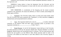 005 Wonderful Equipment Lease Contract Template Free Example  Agreement Word