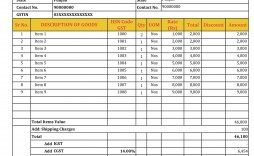 005 Wonderful Excel Gst Invoice Format Download High Def  In Pdf Tally Tax Free Sheet
