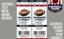 005 Wonderful Football Ticket Invitation Template Free High Definition  Printable Party Download