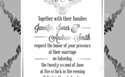 005 Wonderful Formal Wedding Invitation Template Concept  Templates Email Format Wording Free