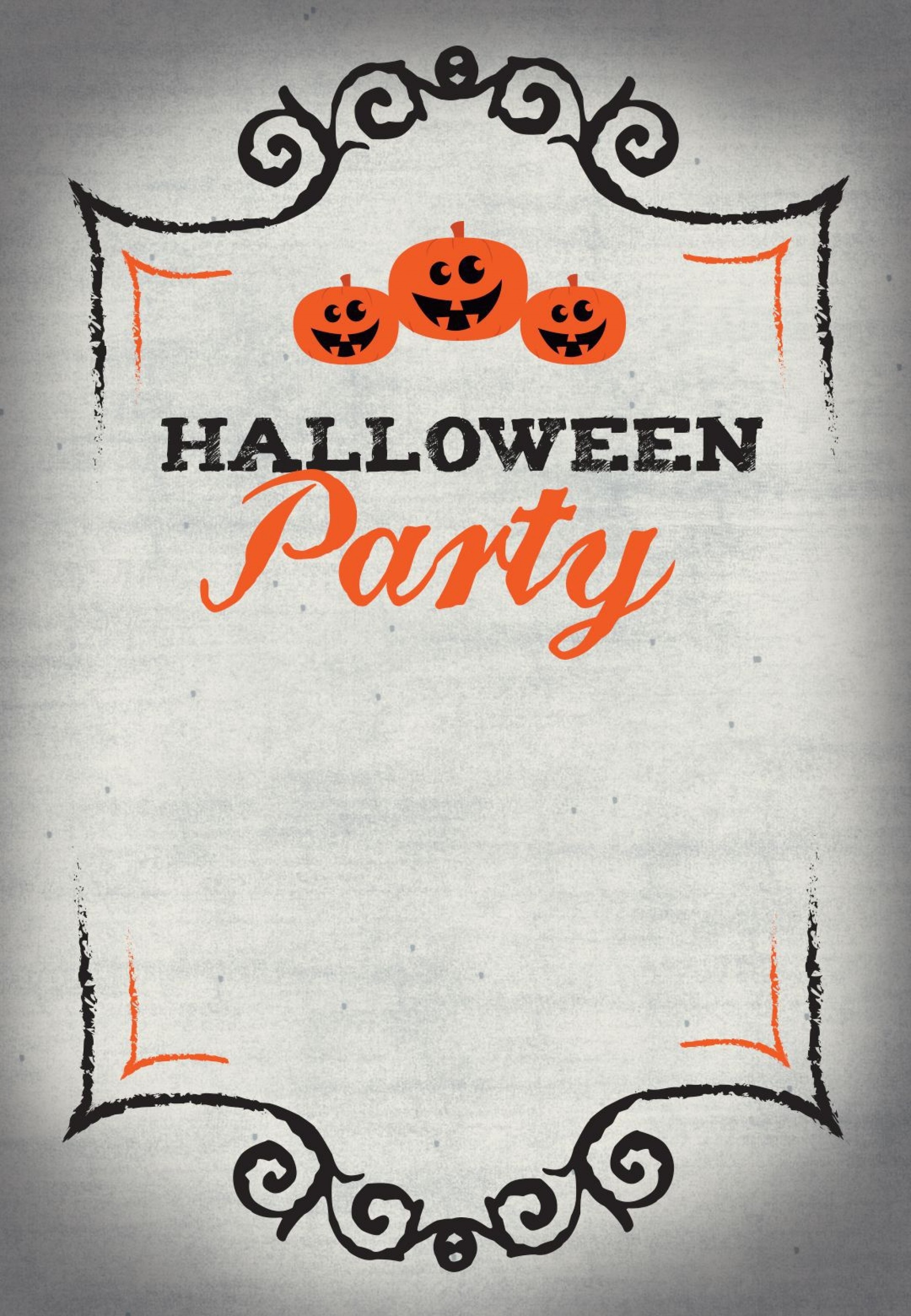 005 Wonderful Free Halloween Invitation Template Printable Highest Quality  Birthday Party1920