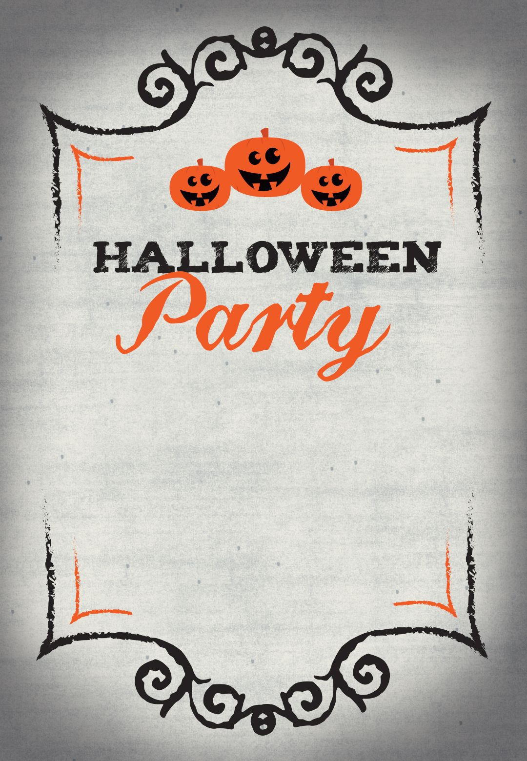 005 Wonderful Free Halloween Invitation Template Printable Highest Quality  Party BirthdayFull