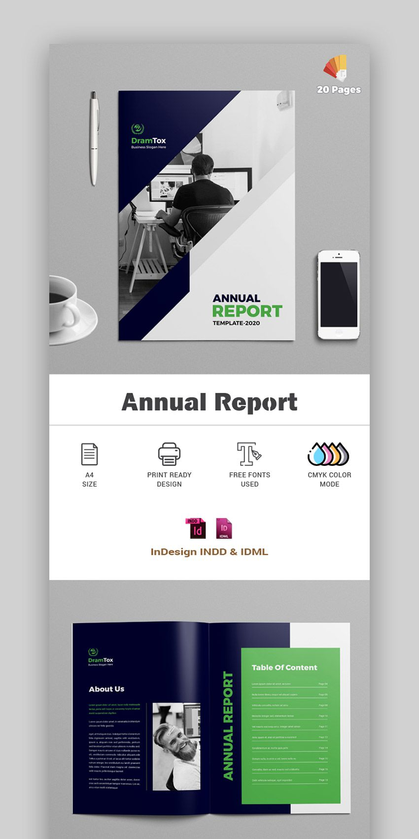 005 Wonderful Free Indesign Annual Report Template Download Highest Quality Full