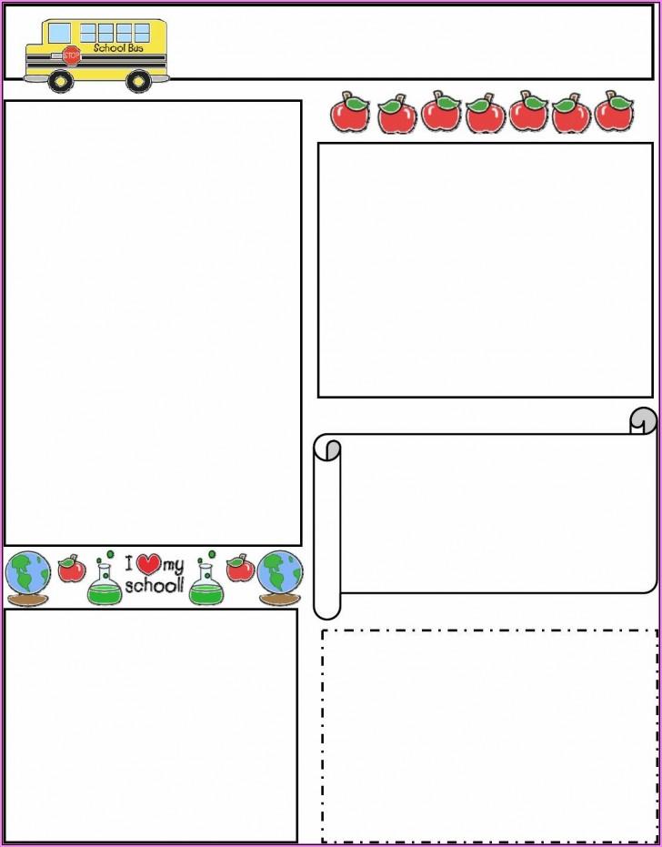 005 Wonderful Free Teacher Newsletter Template Design  Classroom For Microsoft Word Google Doc728
