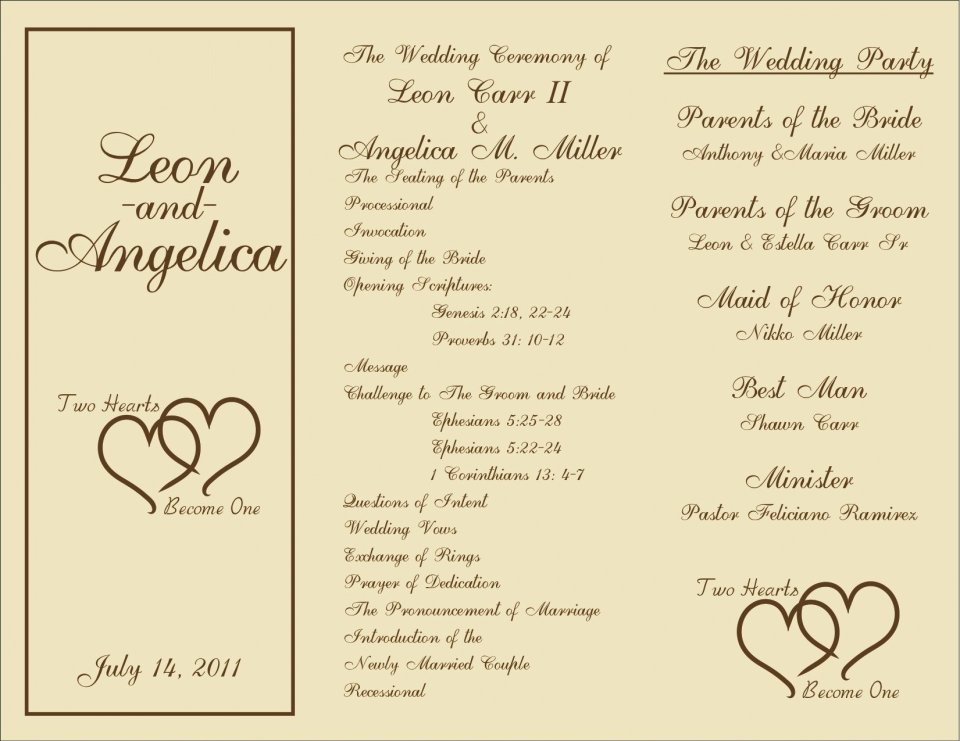 005 Wonderful Free Wedding Ceremony Program Template Picture  Catholic Download1920