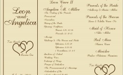 005 Wonderful Free Wedding Ceremony Program Template Picture  Catholic Download