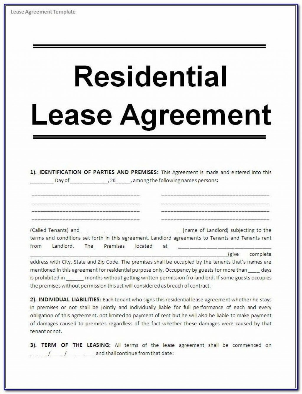 005 Wonderful Lease Agreement Template Word South Africa Photo  Free Simple Residential Commercial DocumentLarge
