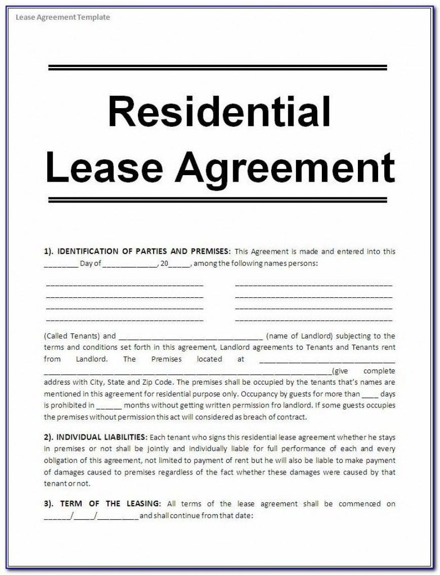 005 Wonderful Lease Agreement Template Word South Africa Photo  Free Simple Residential Room Rental Doc