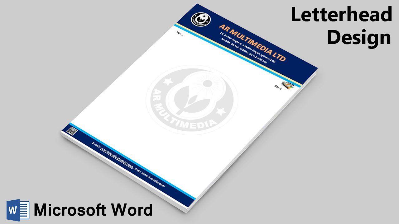 005 Wonderful Letter Pad Design Template Idea  Letterhead Download Ai Free In WordFull