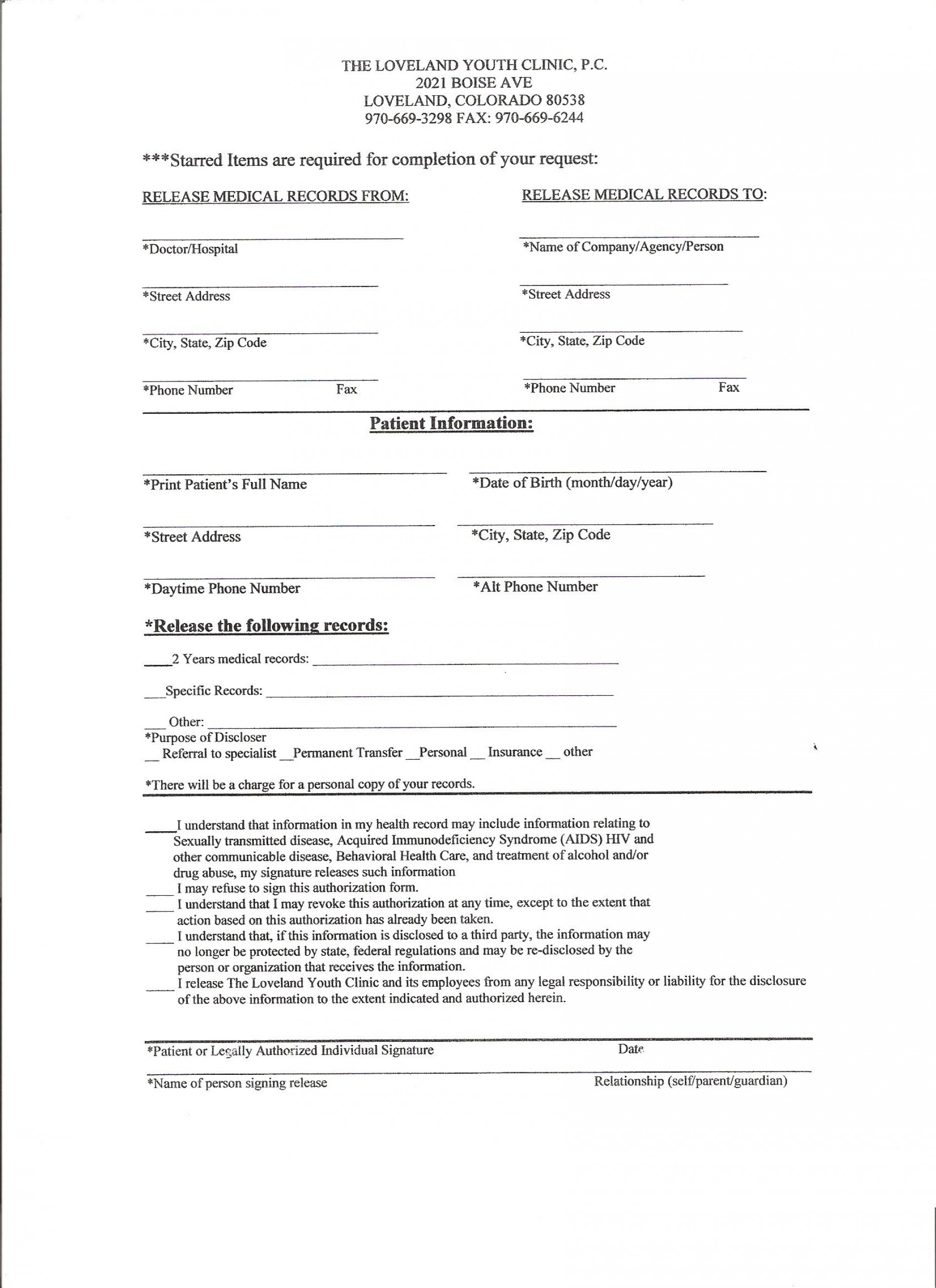 005 Wonderful Medical Record Release Form Template High Def  Request Free Personal1920