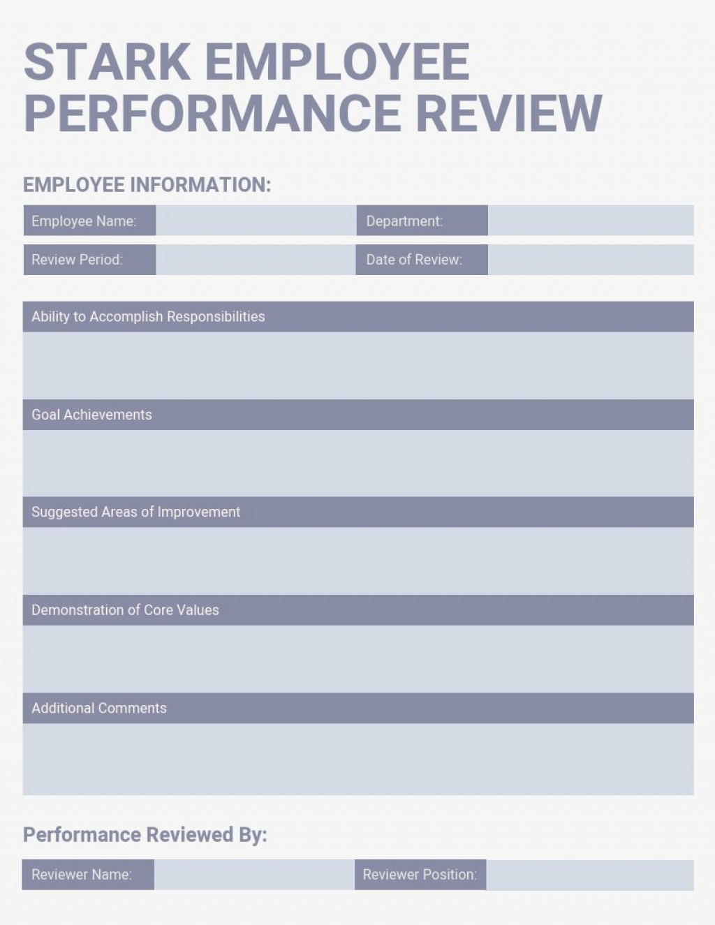 005 Wonderful Performance Review Template Word Example  Doc Download SimpleLarge