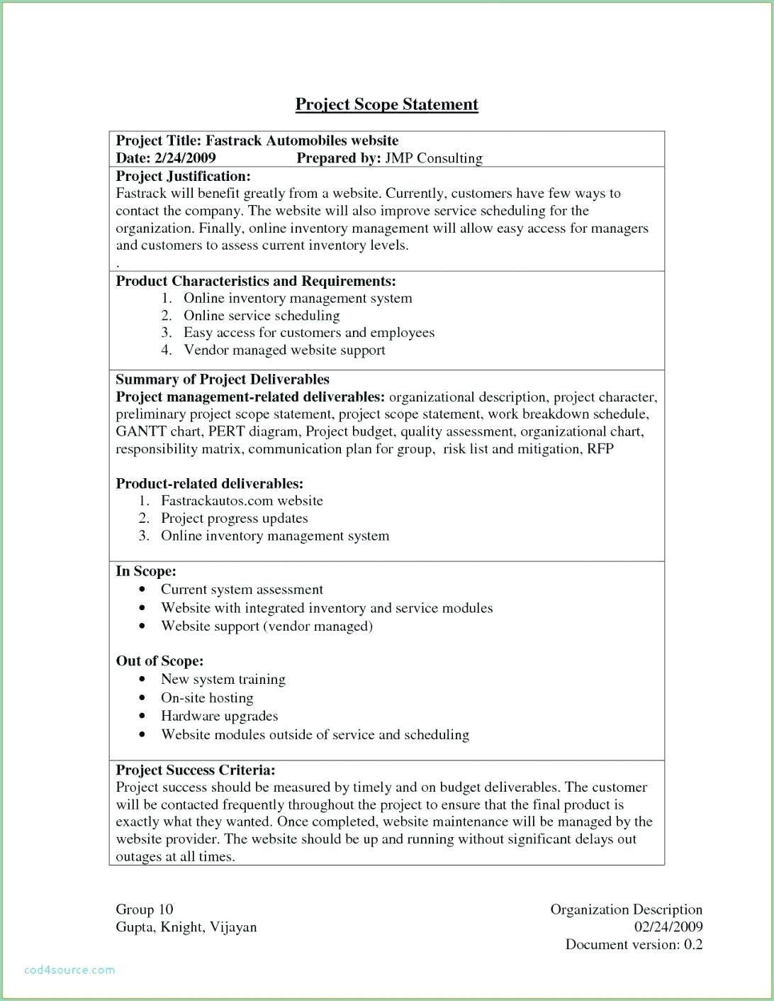005 Wonderful Scope Of Work Template Design  Microsoft Word Web Development Example ConsultingFull