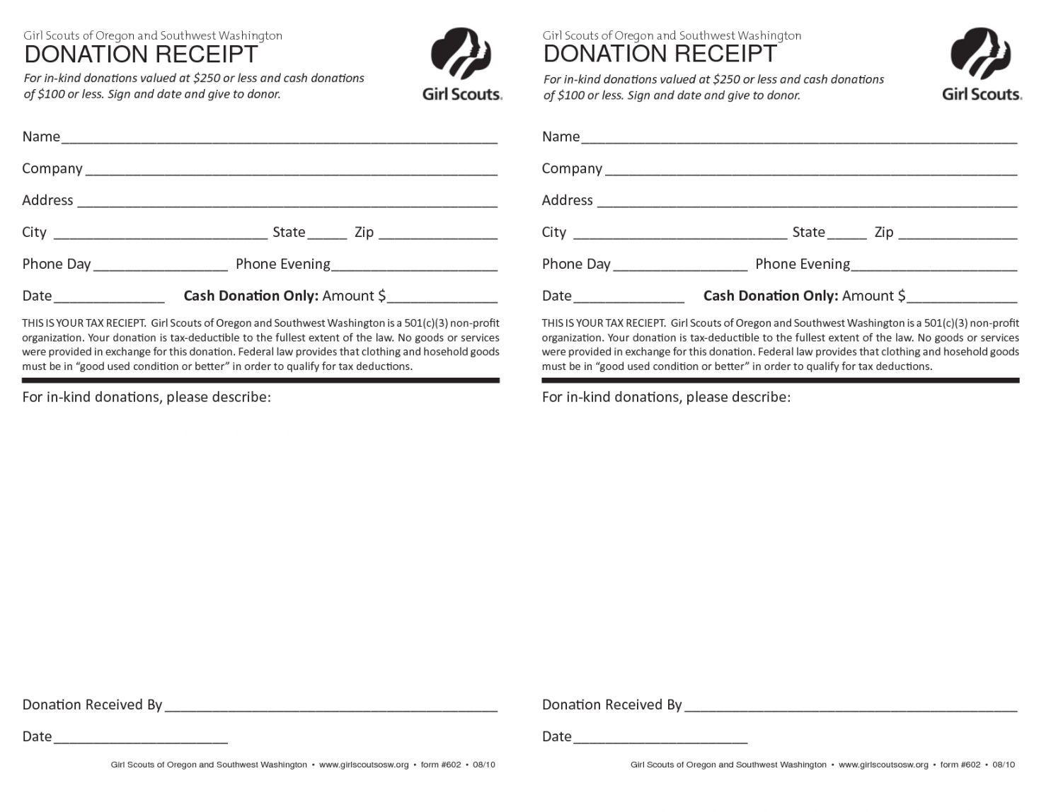 005 Wonderful Tax Deductible Donation Receipt Template Australia Image Full