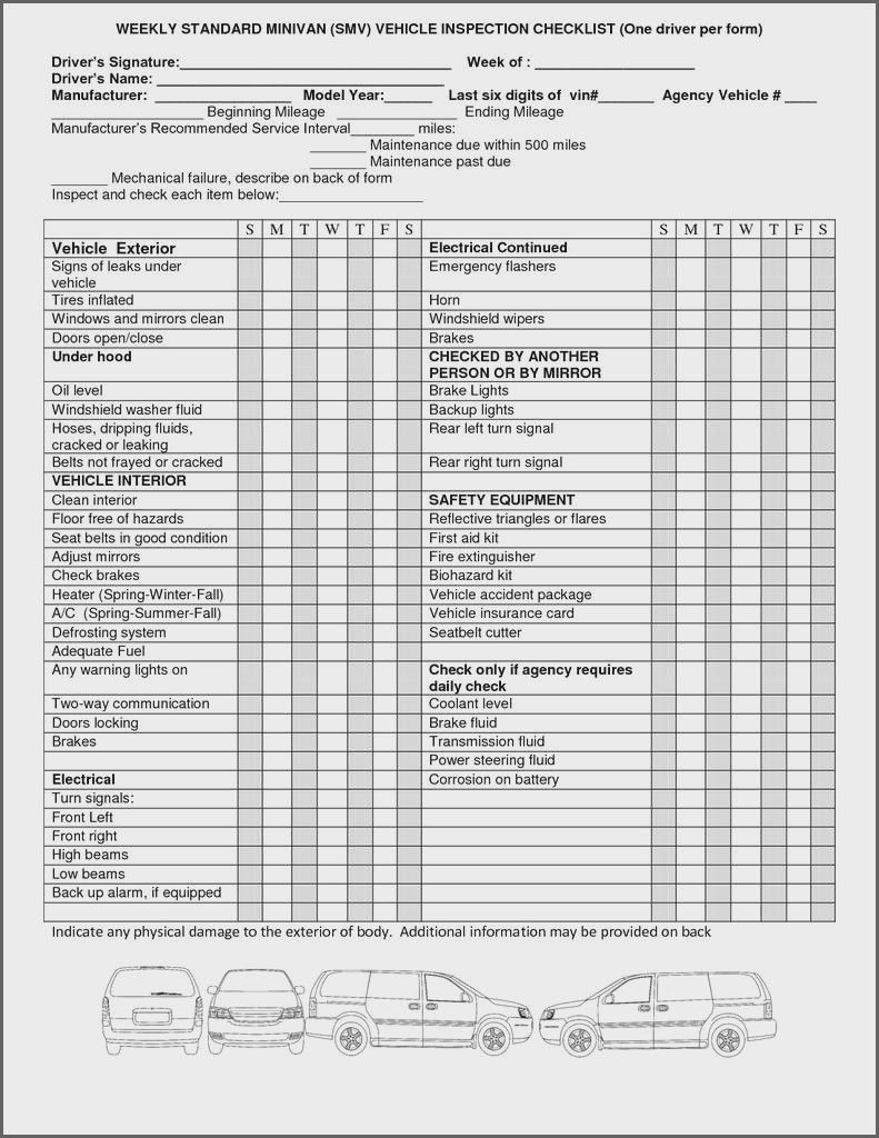 005 Wonderful Vehicle Inspection Form Template Doc Highest Clarity Full