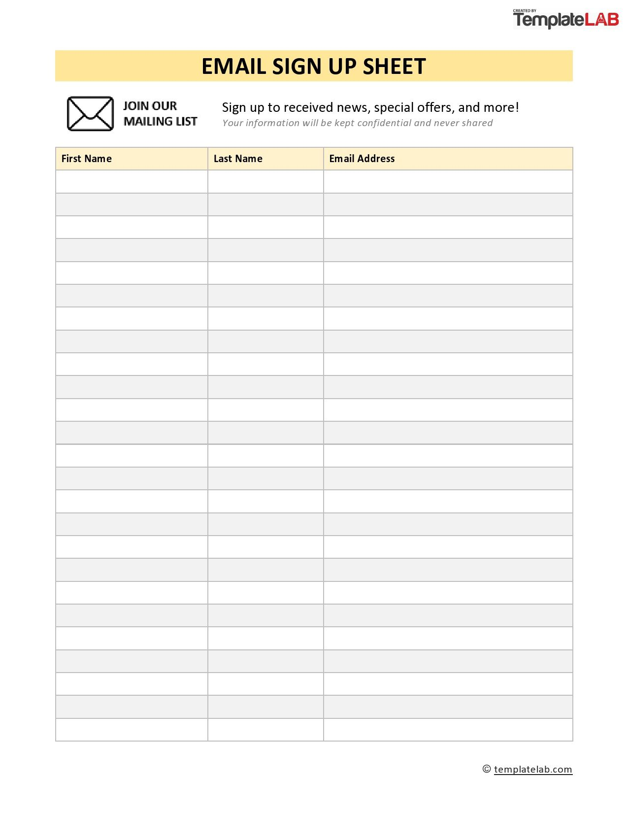 005 Wonderful Visitor Sign In Sheet Template Printable Concept  Free
