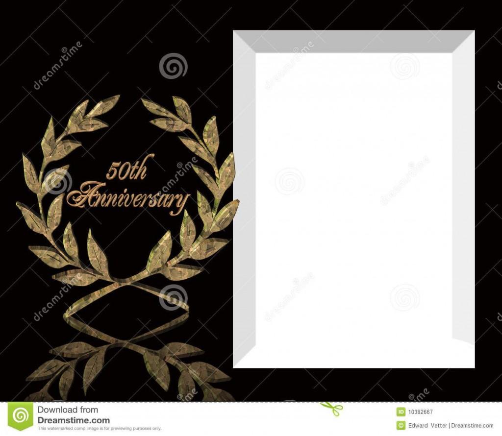 005 Wondrou 50th Anniversary Invitation Template Free Download Image  Golden WeddingLarge