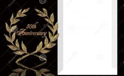005 Wondrou 50th Anniversary Invitation Template Free Download Image  Golden Wedding