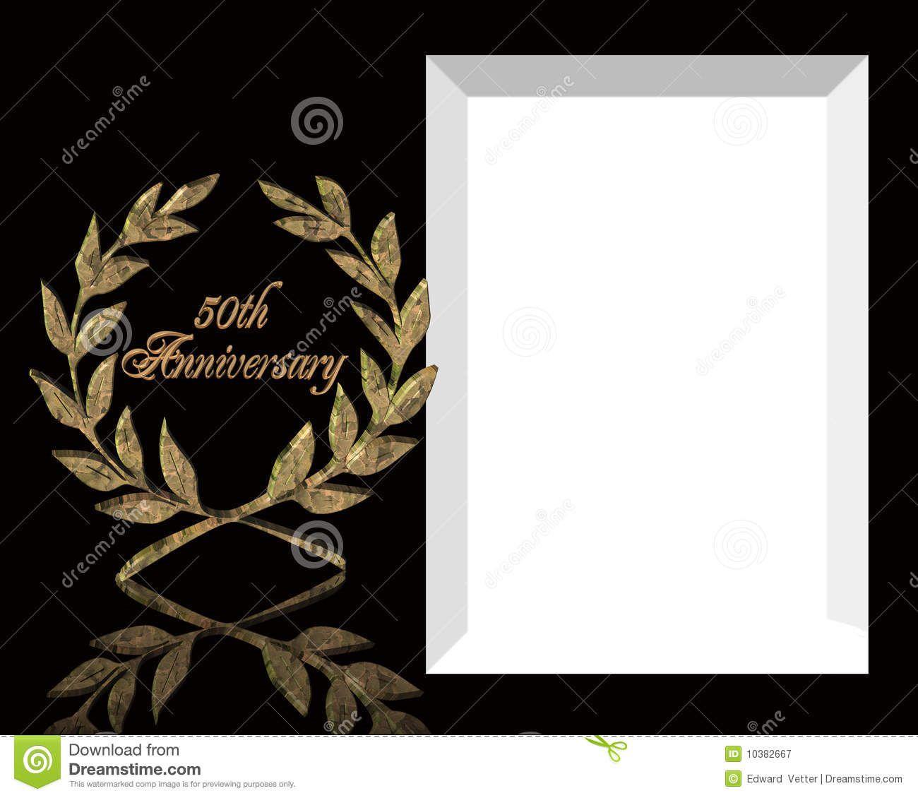 005 Wondrou 50th Anniversary Invitation Template Free Download Image  Golden WeddingFull