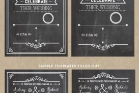 005 Wondrou Chalkboard Invitation Template Free Picture  Download Wedding