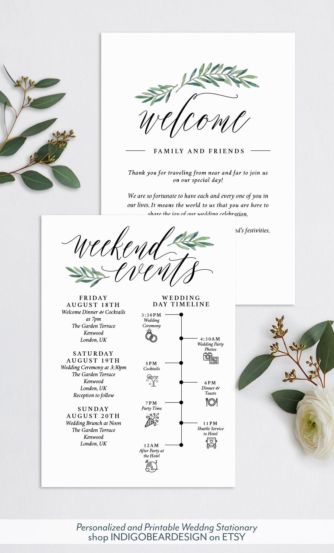 005 Wondrou Destination Wedding Welcome Letter And Itinerary Template High Resolution Full