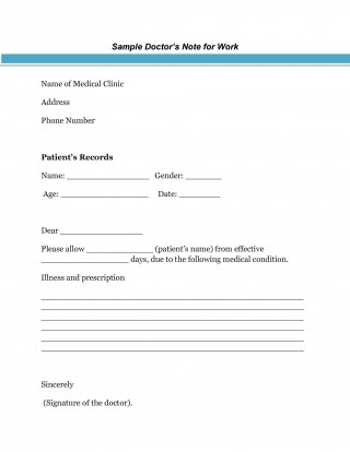 005 Wondrou Doctor Excuse Template For Work Highest Clarity  Note Missing320